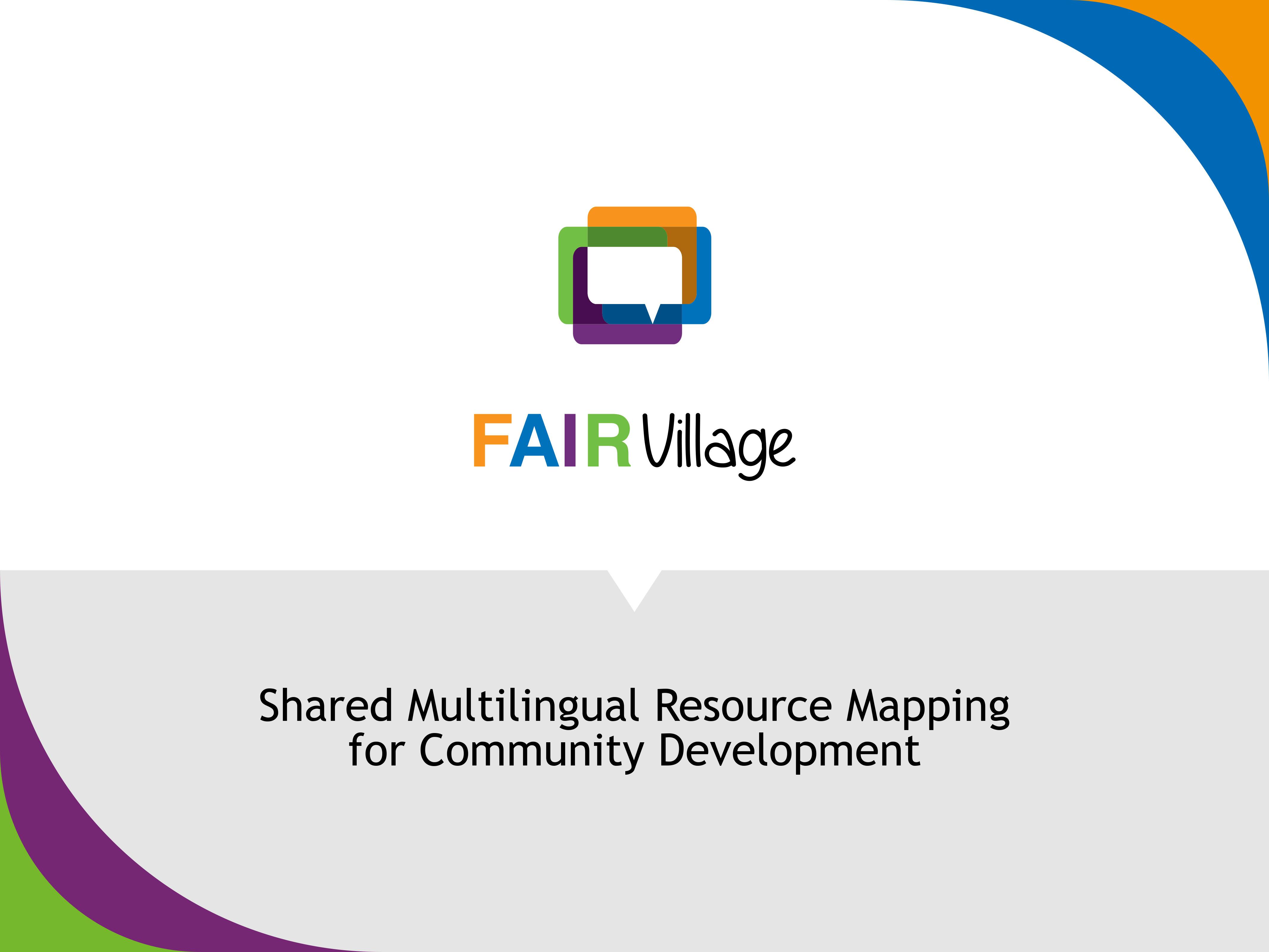 Copertina presentazione Fairvillage