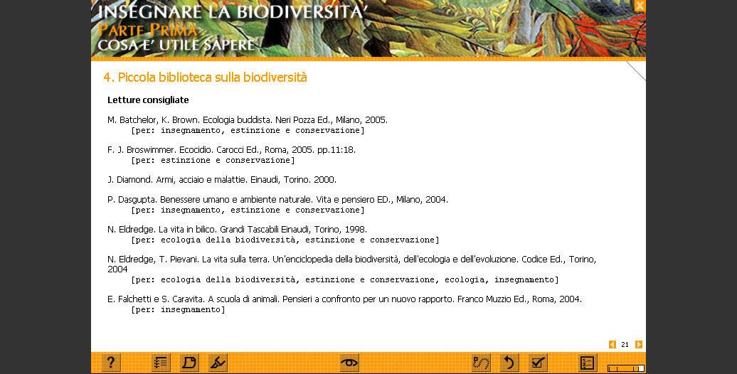 Biblioteca sulla biodiversità