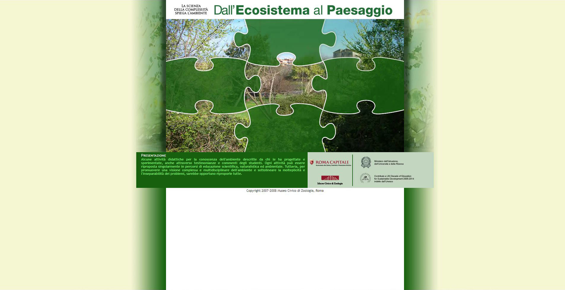 Concetti di ecosistema e paesaggio