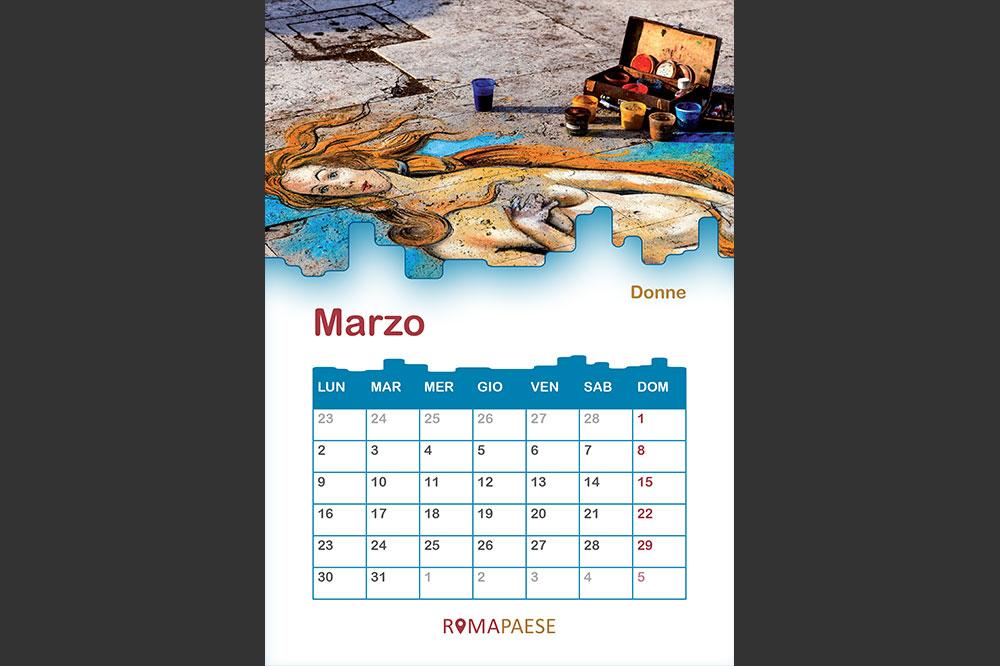 Calendario Romapaese- Marzo