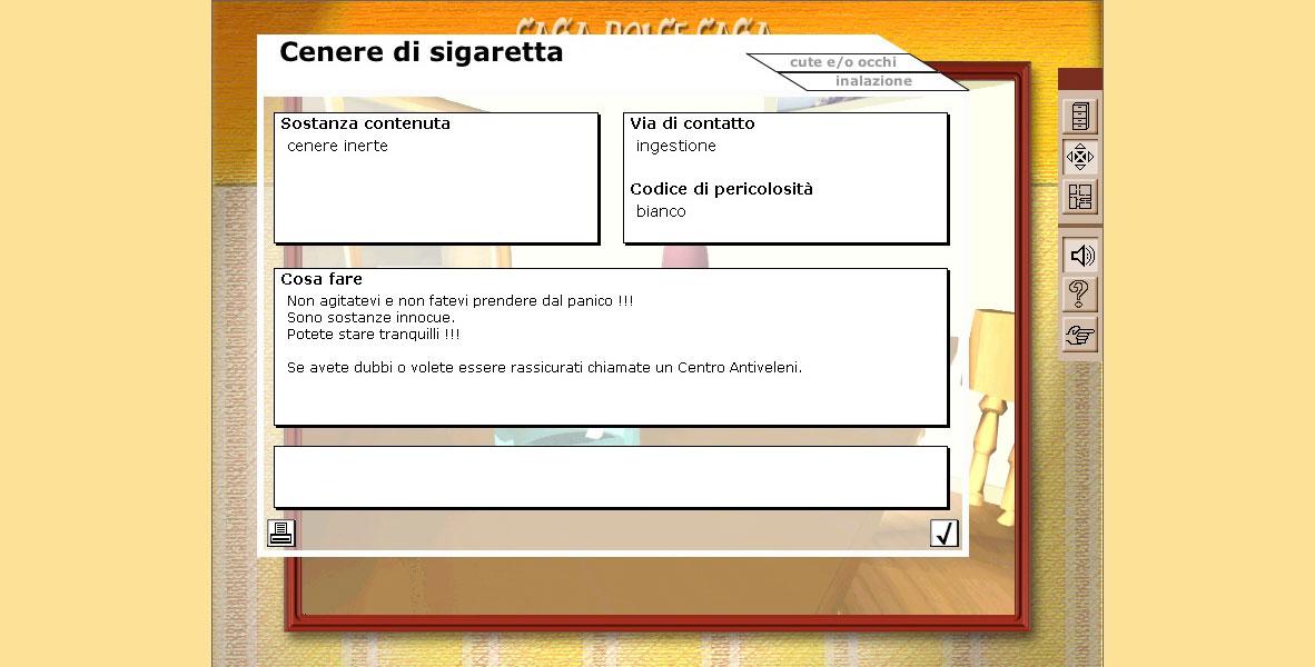 Scheda sulla cenere di sigaretta