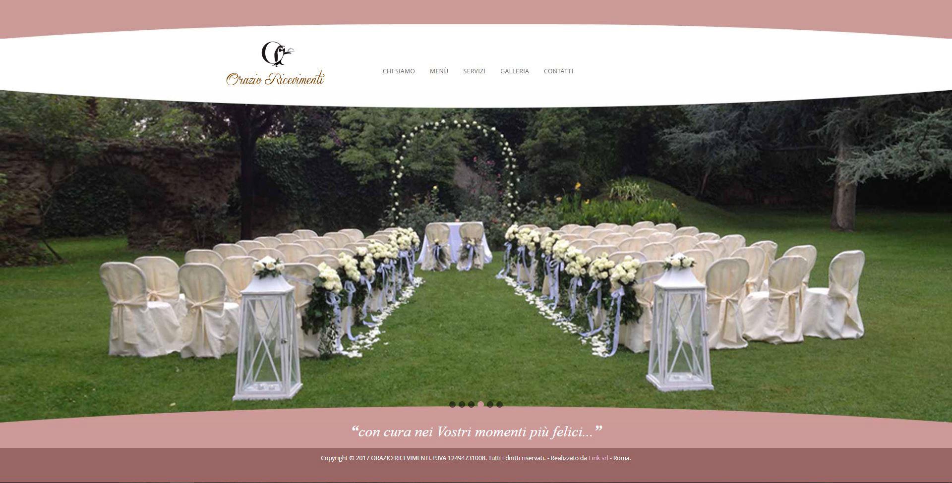 Home page sito web Orazio Ricevimenti