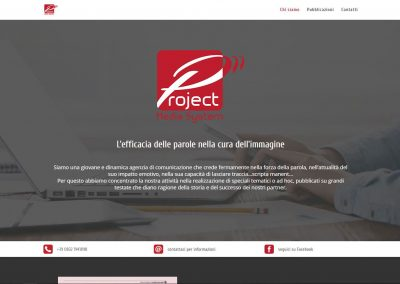 Sito web Project Media System