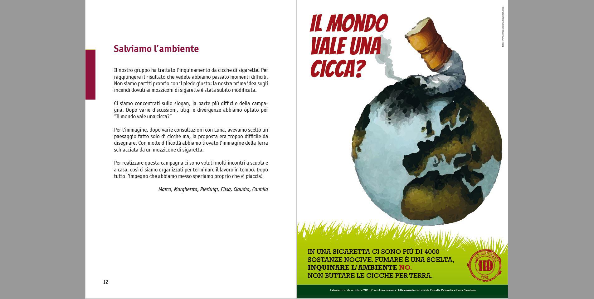 Campagna pubblicitaria per la salvaguardia dell'ambiente