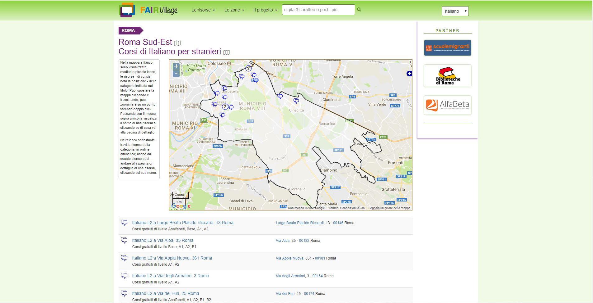 Corsi di Italiano a Roma Sud