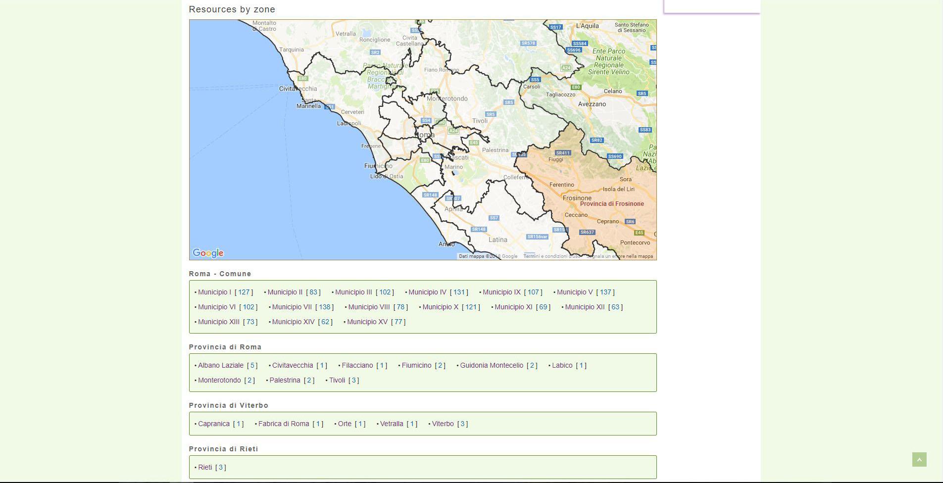 Home page FairVillage - Zone del Lazio