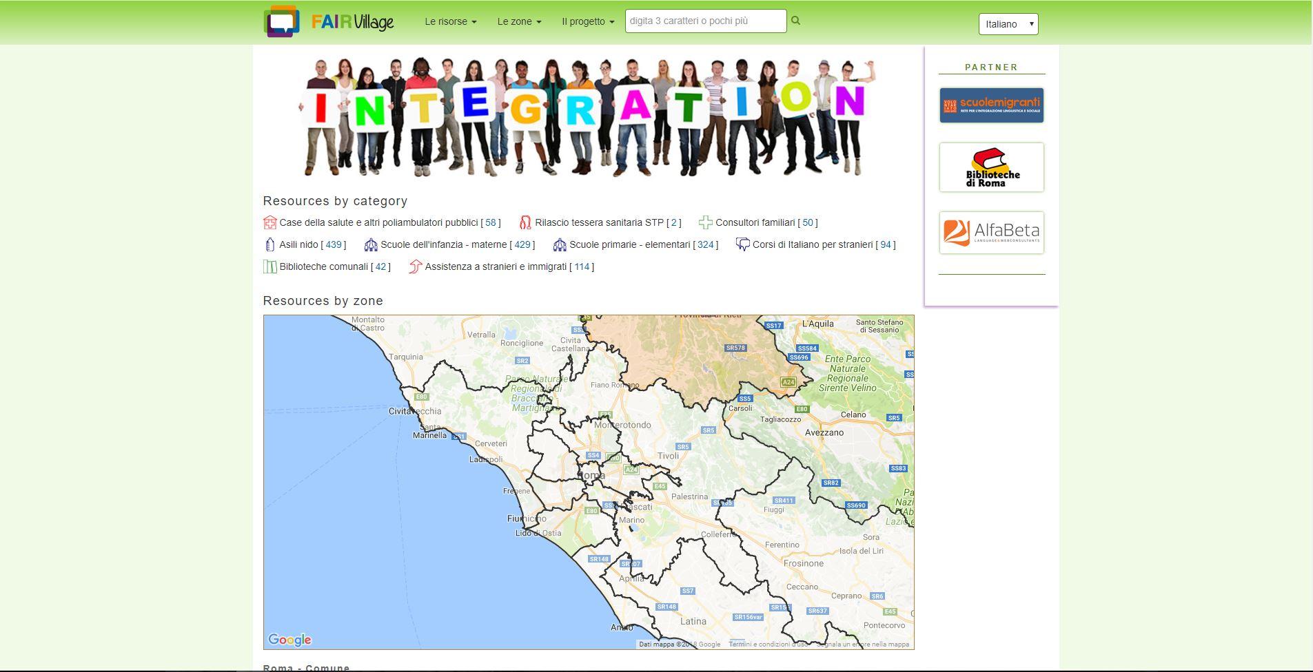 Mappa di risorse per stranieri e migranti