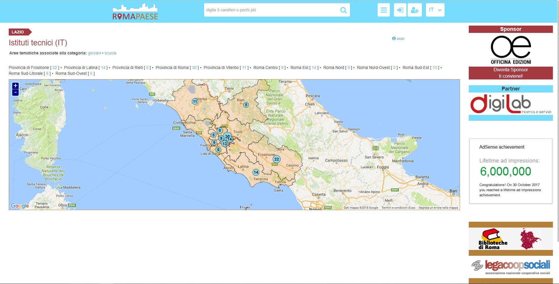 Istituti Tecnici nel Lazio